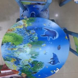 שולחן עץ וכסאות לילדים דולפין